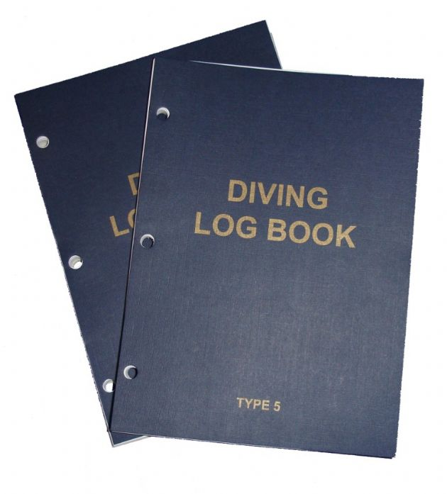 PDC 10 BOOK LOGBOOK DIVING <BR> TYPE 5 INSERTS